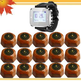Argentina Buscapersonas de relojes de restaurantes 1 reloj de pulsera y 15 botones de mesa Camarero llamando a Servicio de camarero Sistema de llamadas para el restaurante del hotel bancario Suministro
