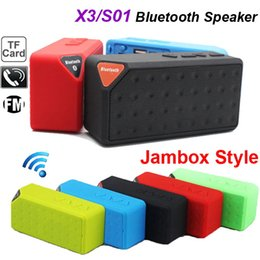 Wholesale Note Speakers - New Portable Wireless Bluetooth Speaker OY X3 Phone Calling Handsfree TF Card FM Line in for iPhone 6 Plus Galaxy S4 Note 5 4 MP3 MP4 Player