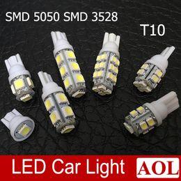 Wholesale 13 Smd W5w Led Bulb - T10 W5W 1 5 9 13 SMD LED 5050 Car Side Wedge Light White Blue 10 12 28 SMD 3528 Car Clearance Bulb
