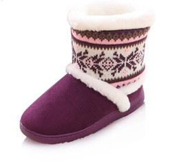Wholesale Warm Indoor Boots Women - Winter Women Indoor Home Cotton Boots Super Warm Home Furnishing Boots Woman High Top Non-slip Floor Shoes free shipping
