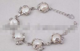Wholesale Freshwater Lobsters - Wholesale- free shipping Amazing big white freshwater Baroque cultured pearl bracelet