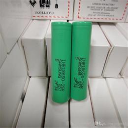 Wholesale lithium batteries wholesale - 100% High Quality 25R 18650 INR Battery 2500mAh 3.7V 20A Rechargable Lithium inr 18650 Batteries Cell For E Cig Box Mod Fedex