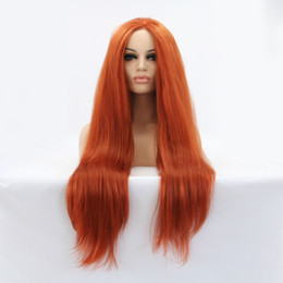 Wholesale Yaki Synthetic Lace Wig - new #360 yaki straight wigs for women lace front wig 100%synthetic hair 150%density heat resistant free shipping