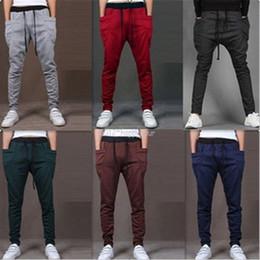 Wholesale Hip Hop Baggy Sweatpants - Cool Men Harem Pants Casual Sports Hip Hop Pants Loose Pocket Design Sweatpants Skinny Trousers Joggers Baggy Trousers