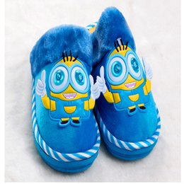 Wholesale Girls Home Shoes - Wholesale-If Ayn Small Huangren Liang Eye Cartoon Cotton Slippers 2015 New Fall And Winter Home Warm Shoes Baby Boys And Girls CSM9147
