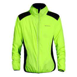 Wholesale wind tour - WOSAWE Tour de France Cycling Jacket Reflective Breathable Bike Bicycle Cycle Long Sleeve Wind Coat Windproof Jersey Jackets Men