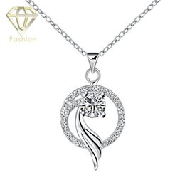 Wholesale Fairy Tail Jewelry - Fairy Tail Necklace New Design Fox Tail in Round Shaped Elegant Luxurious Silver Plated Crystal Pendant Necklace Fashion Jewelry
