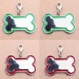 Wholesale Carved Cat Charms - Pet Tags Stainless Steel Bone-Shaped Necklace Pendant Charm Pet Carving Dog ID Tag Cat Hanging Ornament Pet Accessory Dog Pet Supply Product