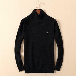 Wholesale Turtleneck Cashmere Jumpers - fashion 2018 autumn men's sweaters turtleneck jumper luxury brand designer sweaters plus size fashion men's tops men's clothing M 7331