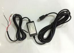 Câbles de tension en Ligne-Module de convertisseur CC de voiture de haute qualité 12V 24V à 5V 1A avec câble USB 5PIN câble de protection de la tension basse longueur 4M 13FT