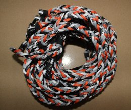 Wholesale Triple Braid Rope Necklace - Wholesale Tornado Titanium sports 3 ropes necklaces Baseball Football Triple braided Titanium Necklace New button(GE) braid sports necklace