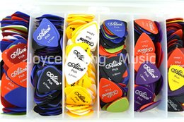 Wholesale Matte Electric Guitar - Wholesale- Lots of 100pcs Alice Matte Acoustic Electric Guitar Picks Plectrums(Thickness&Color Assorted)Free Shipping Wholesales