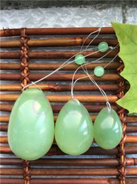 Wholesale natural jade egg for Kegel Exercise pelvic floor muscles vaginal exercise ben wa ball yoni egg