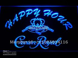 Wholesale Crown Royal Neon Signs - 625-b Crown Royal Beer Happy Hour Bar Neon Light Sign