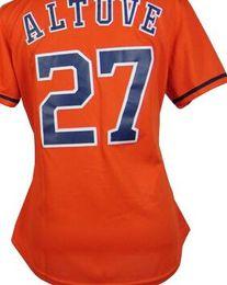 Wholesale Womens Xxl Shirt - 2017 WS Patch #27 Jose Altuve Jersey Mens Womens Kids Baby Premier Stitched Houston Orange Womens Baseball Jerseys Shirt, S-XXL New Arrival
