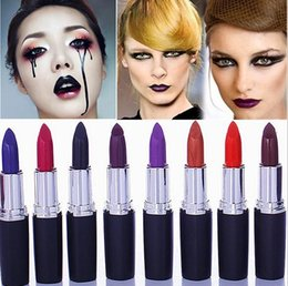 Wholesale Frost Drops - Luster Lipstick Frost Lipstick Matte Lipstick Hallowmas COSPLAY vampire party Makeup Lipgloss cosmetics 8colors drop shipping
