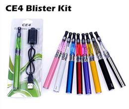 Wholesale E Cig Card - Ego Ce4 starter kit CE4 atomizer Electronic cigarette e cig kit 650mah 900mah 1100mah EGO-T battery blister card Clearomizer E-cigarette l