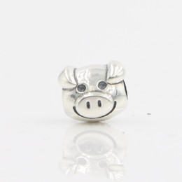 Wholesale Charm Stores - DIY Original Jewery Lovely Animal Pig Charm Beads Made Of S925 Silver Fits For Pandora Bracelets and Bangles LB17 In Lucky Sonny Store