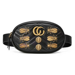 Wholesale Women Mini Bag - freeship new women famous brand waist bag with Metal animal chain shoulder bags luxury designer handbags high quality quilted purse bags