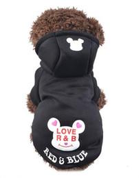 Wholesale Pet Fleece Sweater - Autumn Winter Cute Pet Fleece Sweater Puppy Hooded Windproof Warmth Clothing Cartoon Letter Sweater Pet Supplies