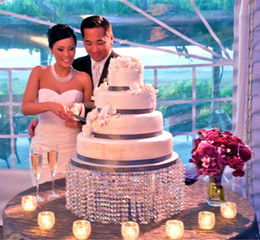 """Wholesale Party Round Table - Dia16""""(40cm) * H8""""(20cm) Round Crystal Wedding Cake Stand, DHL Fedex EMS Free Ship, Wedding Centerpiece,Cupcake Stand"""