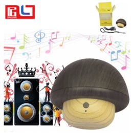 Wholesale Outdoor Wooden Toys - Mini Mushroom Bluetooth Speaker for Smart Phone Cute Wooden toy wireless Bluetooth speaker for Gift Portable for Outdoor Free Shipping