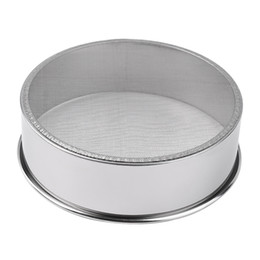 Wholesale Stainless Steel Flour Sieve - Wholesale- 2015 newest high quality Stainless Steel Mesh Flour Sifting Sifter Sieve Strainer Cake Baking Kitchen hot search