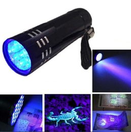 Wholesale Ultrafire Flashlights High - UV Ultra Violet Blacklight 9 LED Flashlight free shipping