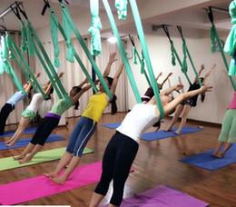 balançoire hamac suspendu Promotion 2015 Nouveau Yoga Suspendu Hamac Balançoire Trapèze Anti-Gravité Inversion Pilates Aériens 140 Taille: 250 * 150 cm Avec Sac gratuit DHL