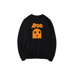 Wholesale Fashion Boo - Men Crewneck Boo Hoodies Fashion Long Sleeve Pullover Hoodies