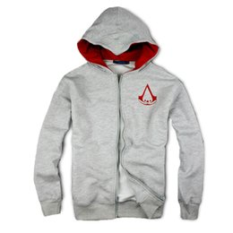 Wholesale Creed Silver - Wholesale-Autumn & Winterassasins creed embroidery Fashion Outerwear, Casual men hoodie, football mens assassins creed clothing