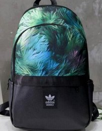 Wholesale Plaid Canvas School Bag - The new Adi backpack back school students school bags men and women couples graffiti fashion sports package