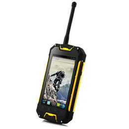 Wholesale Dual Sim Android Ip68 - Unlocked Snopow M5P 4GAndroid 5.1 walkie talkie PTT Two Ways Radio Smart cell phone MTK6589 IP68 rugged Waterproof 4700mAH NFC