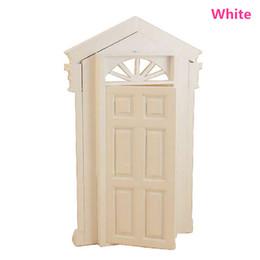 Wholesale Wholesale Wood Models - Wholesale- New Arrival 1 12 Dollhouse Miniature Furniture The Sun Door Luxury Model