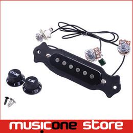 Venta al por mayor de la guitarra acústica Sound Hole Pickup Precableado Pick Up Set Pots Knobs Jack Soundhole Pickup Envío gratis MU1224 desde fabricantes
