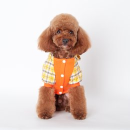 Wholesale Quality Cotton Dog Sweaters - ANGELASHOP new sweater puppy dog apparels print pattren hoodie factory sale high quality pet's clothes teddy cotton coat