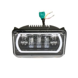 Wholesale Led Headlights For Trucks - free shipping pair 4x6in 30W LED headlight high power sealed beam led headlamp for automotive fire truck Suzuki Ford Toyota Scania Volvo