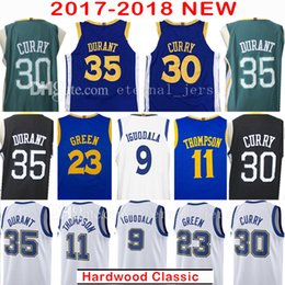 Wholesale Kevin Thompson - 2018 Men's 30 Stephen Curry 35 Kevin Durant 2017-18 New Jersey 23 Draymond Green 11 Klay Thompson 9 Andre lguodala Jerseys Embroidery
