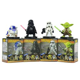 Wholesale Wholesale Sale Models Figures - SALE! Star Wars 6cm Yoda Darth Vader R2-D2 Robot Stormtroopers Action Figure Model Toy Worrior Stormtrooper Robot Vader Yoda Toy Gift