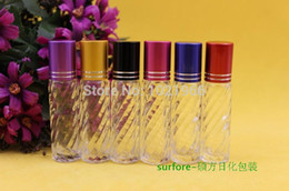 Wholesale Empty Roll Plastic - 8ml ball on perfume bottle Empty Roll On Bottle Metal Stainles Steel Roller Ball Liquids Oil Perfume Bottle plastic roll-on Bott