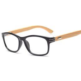 a1abef9874 Reading Prescription Myopia Bamboo women men optical frame vintage Eyeglasses  glasses Frame Eyewear oculos K13