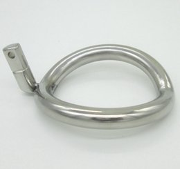Wholesale Super Size Adult Toys - Super Small Stainless Steel Male Chastity Device Cock Cages Additional Ring Cock Ring 8 Size Choose Adult Sex BDSM Toy