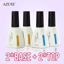 Nuovo marchio Azure Nail Gel Polish Temperature Nail Colore UV base coat e top coat Nail Gel per Nail soak off gel polish da