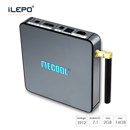 Wholesale Network Tv Box - MECOOL STALKER TV Box S912 Octa Core 2GB 16GB Android6.0 KD17.3 2.4G 5G WiFi BT4.0 1000M Network Media Player