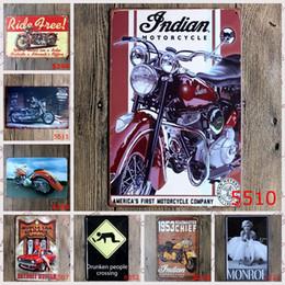 Wholesale Folk Art Shop - 2016 20*30cm classic vintagemotorcycle rider roadmaster Tin Sign Coffee Shop Bar Restaurant Wall Art decoration Bar Metal Paintings