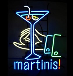 """Wholesale Neon Lights Decorating - MARTINIS Neon Sign Light Drink Store Bar Dsico KTV Motel LED Sign Display Advertise Decorating 17""""X14"""""""