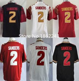 Wholesale Deion Sanders Florida State Jersey - Factory Outlet- Florida State Seminoles Jersey #2 Deion Sanders College Football Jersey SFU Black Red White Garnet Stitched 2 Sanders Jersey