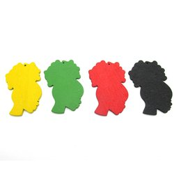 Wholesale Earring Heads - Free Shipping! 4 colors Available Afro Head Wood Earrings