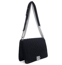 Wholesale Cheap Crossbody Bags - Fashion Boy Flap Velvet Chain Bag Women party clutch crossbody shoulder bag cheap flap boy bag