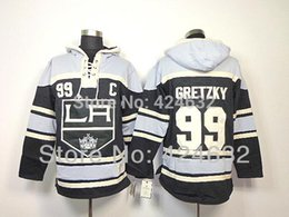 Vêtements de hockey sur glace en Ligne-2016, Los Angeles Kings 99 Wayne Gretzky Noir C Patch Old Time Hockey LA Hoodie Hoodies Vêtements De Hockey Sur Glace